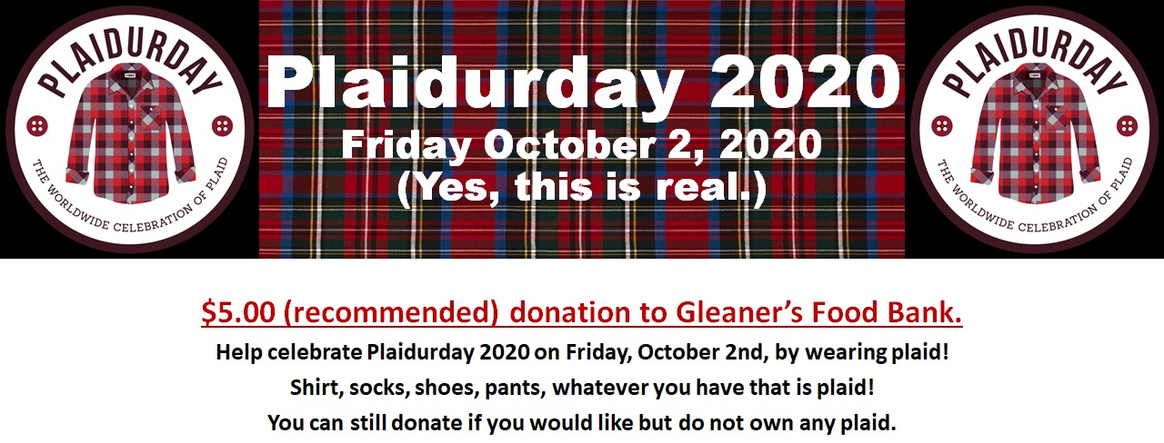Welcome to the Official 2020 Plaidurday Virtual Food Drive